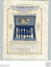 1925 PAPER AD Tudor Plate Silverware Queen Bess Baronet Duchess Pattern Chest