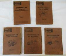 Vintage Lot 5 CAT Caterpillar Parts Books Ripper Scraper Tractor Engine Manual l