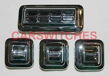 COMPLETE 1962-1971 GM POWER WINDOW SWITCH ROUNDED CORNERS SET 4432791 & 4432790
