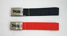 """'DREADY' Canvas Webbing Belt *TWIN PACK* (RED/NAVY) Fits up to a 48"""" waist!!!"""