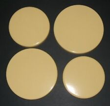 "New Set of 4 ""MUSTARD""  Enamel Electric Oven Hob Covers - 2 x 16cm and 2 x 20cm"