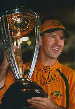 Ricky PONTING Signed Autograph 12x8 Photo AFTAL COA Australia CRICKET Genuine