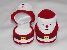 High Quality Santa Shaped Gift Christmas Gift Box Red / White Velvet USA Seller