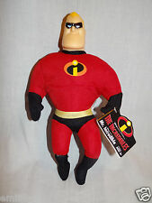 """NEW WITH TAGS DISNEY PIXAR 2004 THE INCREDIBLES MR. INCREDIBLE 10""""PLUSH"""