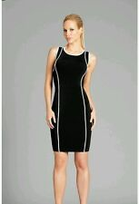 GUESS BY MARCIANO BLACK Fabrice Piping Dress SIZE S