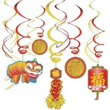 ASIAN CHINESE NEW YEAR SWIRLS HANGING PARTY DECORATIONS DRAGON FIRECRACKER COIN