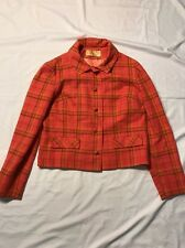 Women's Pink Plaid Pendleton Wool Coat Size 10