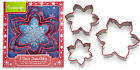 Cooksmart Set of 3 Snowflake Cookie Cutters Biscuit Pastry Christmas Stainless