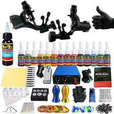 Solong Tattoo Kits Tattoo Machine Guns Set Ink Power Supply Grip Tips TK203-19