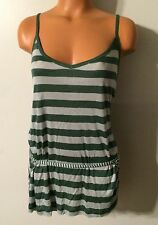 •• NWT Women's Size Medium Xdye Tank Top Green Spaghetti Strap Nice!