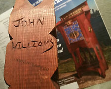 3 JOHN WILLIAMS totem pole cedar carving vtg seattle pacific tribal art statue