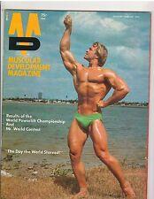 MUSCULAR DEVELOPMENT bodybuilding muscle magazine/JOHN KEMPER w/poster 2-75