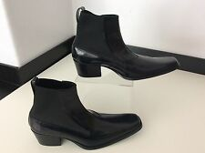 HAIDER ACKERMANN black Leather Boots Brand New Size 37.5 Uk 4.5 Ankle Chelsea
