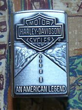 AUTOMOTIVE HARLEY DAVIDSON AMERICAN LEGEND ZIPPO LIGHTER FREE P&P FREE FLINTS