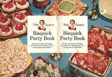 1957 Betty Crocker's Bisquick Party Cookbook Bread Main Dishes Desserts Cake etc