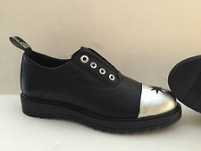 Scarpe derby shoes 36 Love Moschino donna woman pelle leather nere black silver
