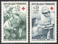 Francia 1966 Cruz Roja/médico/Bienestar/salud/Soldados/enfermeras 2v Set (n20398)