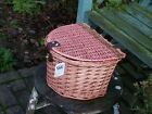 WICKER BIKE BASKET EASY FIT JUST HOOK ON AND GO
