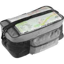 Bike Bicycle Grey Handle Bar Bag with Transparent Map Pouch - 27 x 14.5 x 12cm