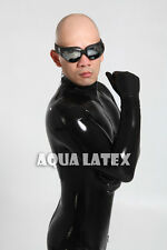 Black Tight Latex Catsuit with Five-toe Socks Man's Rubber Bodysuit Zentai Suit