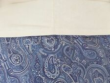 King Size Duvet Custom Made Blue Paisley Bandana Ivory Linen Beach Cottage