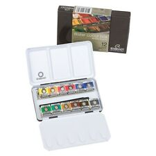 Rembrandt Artist Quality Watercolour Metal Deluxe box Set of 12 Half Pans