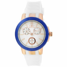 Invicta 22206 Lady's Ceramics White Band Blue Ceramic Bezel Watch
