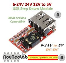 6-24V 24V 12V to 5V USB Step Down Module DC-DC Converter