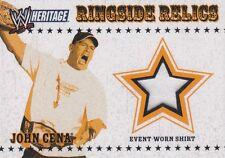 JOHN CENA 2005 Topps WWE Heritage Ringside Relics EVENT WORN WHITE T-SHIRT