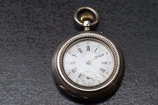 ANTIKE 0,800 SILBER SPIRAL BREGUET ANCRE 15 RUBIS Taschenuhr POCKET WATCH