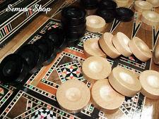 MADERA MACIZA Backgammon Piezas de juego aprox. 28 mm. MUY ESTABLE