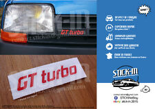 Autocollant Stickers Renault 5 GT Turbo Renovation Monogramme Calandre Badge R5