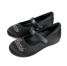"""New Authentic Gucci Kids """"Daisy"""" Ballet Flat w/Strass, 25/US 9, Black 271301"""