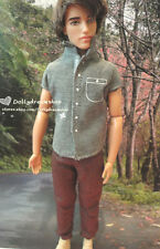 Doll Clothing ~ Barbie BF Ken Casual Grey Shirt & Pants outfit 1set NEW