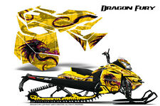 SKI-DOO REV XM SUMMIT SNOWMOBILE CREATORX GRAPHICS KIT DRAGON FURY PINK YELLOW