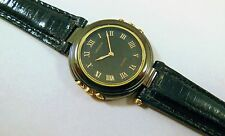 Lassale by Seiko Two-Tone Black & Gold Metal 1F20-1D80 Sample Watch NON-WORKING