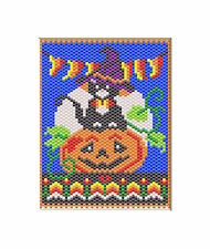 Sweet Halloween Kitty Pony Bead Banner Pattern Only