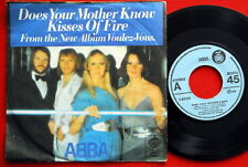 """ABBA DOES YOUR MOTHER KNOW/KISSES OF FIRE 1979 UNIQUE LABEL EXYUGO 7""""PS N/MINT"""