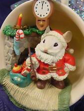NEW ENESCO A CUP of CHEER CHRISTMAS ORNAMENT COZY SERIES SANTA CLAUS MOUSE MIB