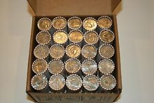 50 Bank Wrapped Rolls of Kennedy Half Dollars Unsearched $500 FV Sealed Bank Box