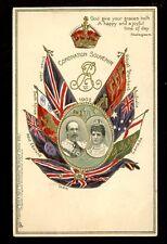 Royalty Coronation 1902 Souvenir Edward VII Queen Alexandra Tuck #608 PPC