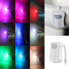 HOT!!!LED 8 Color Night Light Body Motion Sensor Automatic Toilet Bowl Bathroom
