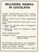 W3973 Riserva di Caccia in Jugoslavia - Pubblicità 1972 - Advertising