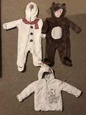 Baby Boys Winter 3-6 Months Christmas Clothing Bundle Sleepsuits Snowsuits Coat