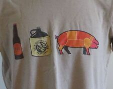 Beer Bourbon and BBQ Festival 2012 Tour Tshirt Brew It Taste It Sip It Bacon Med