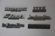 Vintage Metal Car Dealer Emblems Ornaments Badges North Dakota