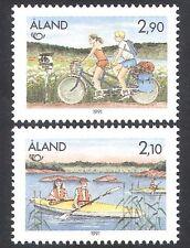Aland 1991 Tourism/Bicycle/Bike/Canoe/Transport/Holidays/Cycling 2v set (n22456)