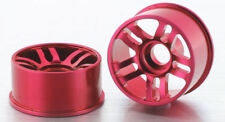 NEW IWAVER A01400718 ALLOY WHEEL SET D SEMI WIDE RED RC CAR 1:28 MINIZ MR02 MR03