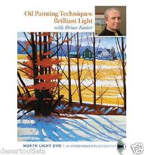 NEW! Oil Painting Techniques Brilliant Light Brian Keeler Learn Brushwork DVD