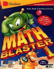 Math Blaster In Search of Spot 1st  2nd 3rd 4th 5th grade PC new CD XP not 64bit